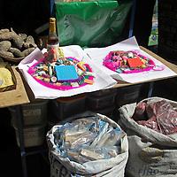 South America, Bolivia, La Paz. Potions at the Witch Doctor's Market of La Paz.