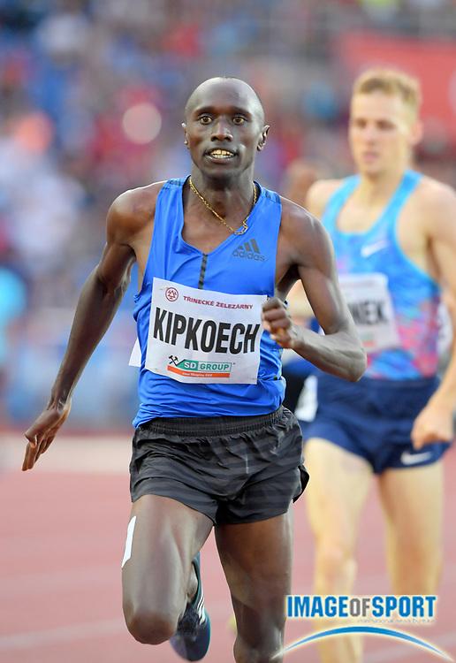 Nicholas Kipkoech (KEN) wins the 1,000m in 2:18.51 during the 56th Ostrava Golden Spike in an IAAF World Challenge meeting at Mestky Stadion in Ostrava, Czech Republic on Wednesday, June 28, 20017. (Jiro Mochizuki/Image of Sport)