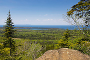 Vista view from Mt. Franklin  atop Isle Royale National Park, Lake Superior, Michigan, USA