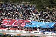 The Marquez brothers fan club during the Gran Premio Motul de la Comunitat Valenciana at Circuito Ricardo Tormo Cheste, Valencia, Spain on 16 November 2019.