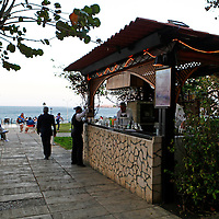 Central America, Cuba, Havana. Bay View Bar at Hotel Nacional de Cuba, an iconic landmark in Havana.
