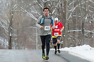 Mamakating, New York - Runners compete in the Wurtsboro 30K road race on March 21, 2015.