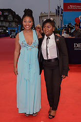 Dominique Fishback, Tatum Marilyn Hall attending the premiere of The Sisters Brothers during the 44th Deauville American Film Festival in Deauville, France on September 4, 2018. Photo by Julien Reynaud/APS-Medias/ABACAPRESS.COM