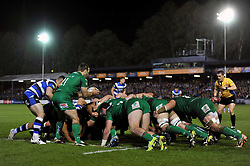 Tomas O'Leary of London Irish looks to put the ball into a scrum - Photo mandatory by-line: Patrick Khachfe/JMP - Mobile: 07966 386802 24/04/2015 - SPORT - RUGBY UNION - Bath - The Recreation Ground - Bath Rugby v London Irish - Aviva Premiership