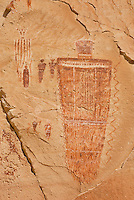 Barrier style pictographs at The Great Gallery, Horseshoe Canyon, Canyonlands National Park Utah