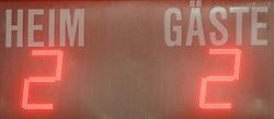 19.02.2010, Stadion Wiener Neusttadt, AUT, 1. FBL, SC Magna Wiener Neustadt vs SK Rapid Wien, im Bild Feature Endstand, EXPA Pictures © 2010, Photographer EXPA / S. Trimmel / for Slovenia SPORTIDA PHOTO AGENCY.