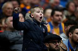 Shrewsbury Town fan during the Checkatrade Trophy final at Wembley Stadium, London.