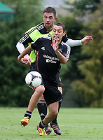 20120110: SAO PAULO, BRAZIL - Player Theo Janssen and Ismaïl Aissati from Ajax team during training session at Football Academy in Barra Funda, SP, before match against Palmeiras<br /> PHOTO: CITYFILES