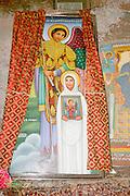 Africa, Ethiopia, Lalibela, Interior of the Rock Hewn church of Bet Giyorgis, (St. George)