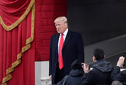 Donald Trump arrives on the West front Lawn of the U.S. Capitol before the swearing-in ceremonies in the U.S Capitol on January 20, 2017 in Washington, DC. .Photo by Olivier Douliery/Abaca
