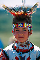 American Indian boy, Native American Powwow, The Fort, Morrison, Colorado USA