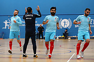 Deaf Futsal European championship qualifying tournament. action from the Sweden v Turkey  (in white) match at Cardiff Metropolitan University, in Cardiff , South Wales on Friday 19th January 2018.  pic by Andrew Orchard