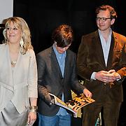 NLD/Amsterdam/20120309 - Onthulling kleden voor Care & Fair, hoofdredactrice Residence, Piet Paris en Marc Janssen