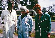 Goodwood BARC race 18th May 1963, Lotus-Climax racing car Jiohn Coundley Racing Partnership, John Coundley with mechanics