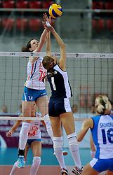 11-11-2011 VOLLEYBAL: PRE OKT GRIEKENLAND - NEDERLAND: POREC<br /> Nederland wint vrij eenvoudig met 3-0 van Griekenland / Lonneke Sloetjes<br /> ©2011-FotoHoogendoorn.nl
