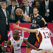Anadolu Efes's Ermal KURTOGLU (B) during their BEKO Basketball League derby match Galatasaray between Anadolu Efes at the Abdi Ipekci Arena in Istanbul at Turkey on Sunday, November 13 2011. Photo by TURKPIX