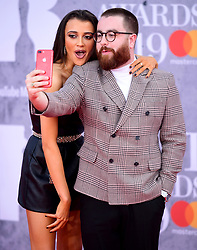 Daisy Maskell and Tom Green attending the Brit Awards 2019 at the O2 Arena, London.
