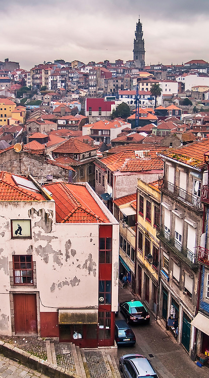 Oporto, December 2012. Downtown general view, UNESCO World Heritage Site.