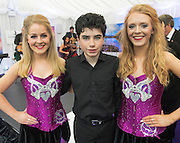 17/05/2015 . Trad on the Proms Dara Kelly with Emer Finnerty and Claire Greaney during the Chinese state visit to farmer Cathal Garvey Farm in Co Mayo . Photo: Andrews Downes XPOSURE
