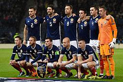 A Scotland team Group Photo during the UEFA Nations League, League C Group one match at Hampden park, Glasgow.