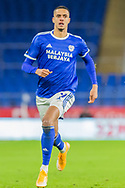 Cardiff City's Robert Glatzel (9) in action during the EFL Sky Bet Championship match between Cardiff City and Birmingham City at the Cardiff City Stadium, Cardiff, Wales on 16 December 2020.