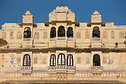 City Palace Complex and Shiv Niwas Palace Hotel of 76th Maharana of Mewar, Shreeji Arvind Singh Mewar of Udaipur Rajasthan India