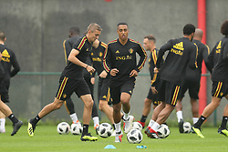 September 5, 2018 - Tubize, BELGIUM - Belgium's Timothy Castagne and Belgium's Youri Tielemans pictured during a training session of Belgian national soccer team the Red Devils in Tubize, Wednesday 05 September 2018. The team is preparing for a friendly match against Scotland on 07 September and the UEFA Nations League match against Iceland on 11 September. BELGA PHOTO BRUNO FAHY (Credit Image: © Bruno Fahy/Belga via ZUMA Press)
