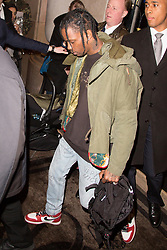 Travis Scott leaving the George V hotel ahead the Paris fashion week in Paris, France, on March 04, 2017. Photo by Nasser Berzane/ABACAPRESS.COM    584664_001
