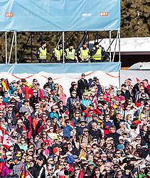 28.02.2019, Seefeld, AUT, FIS Weltmeisterschaften Ski Nordisch, Seefeld 2019, Nordische Kombination, Skisprung, im Bild Polizisten über den zuschauern // Policemen above the spectators during the Ski Jumping competition for Nordic Combined of FIS Nordic Ski World Championships 2019. Seefeld, Austria on 2019/02/28. EXPA Pictures © 2019, PhotoCredit: EXPA/ JFK
