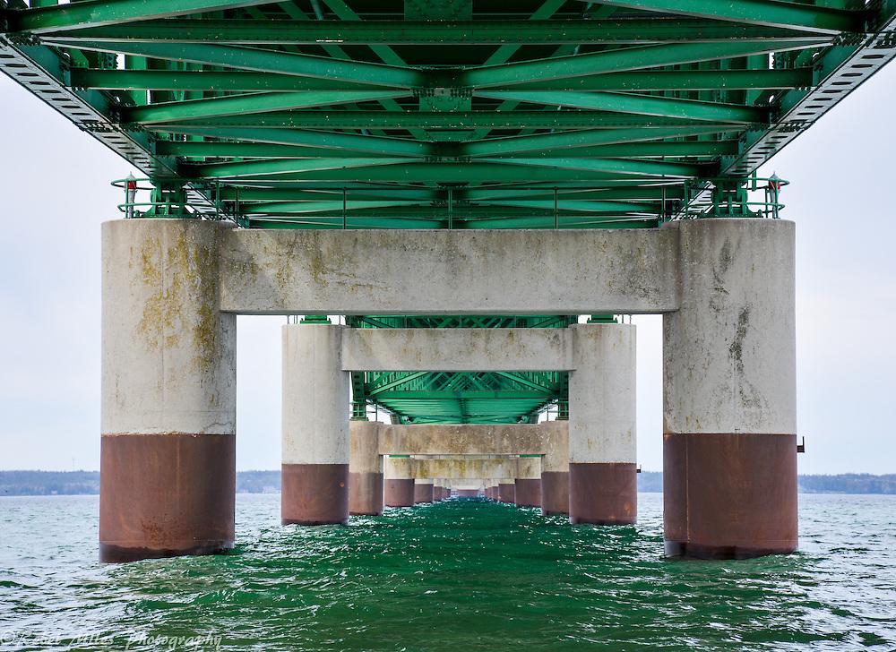 A Look Below The Mackinac Bridge Provides A Unique Perspective