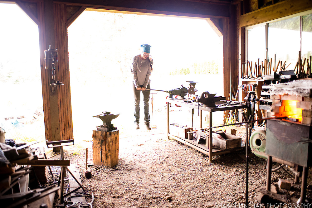 in the forge at Red Pig Tools