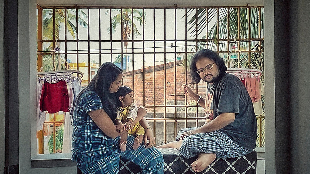 """""""We both are from kolkata, India and we both met here and never lived anywhere else. We became parents on August last year and now quarantine with our 8 months old Topse for last 6 weeks. We dont want to risk his health"""" Rishika and Anirban Brahma with their son Aadved  (Topse). Kolkata, India, April 30th, 2020"""