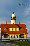 Sunset at Portland Head Lighthouse in Portland, Maine, USA