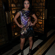 Freemasons Hall, London, England, UK. 15th September 2017. Calista Kazuko singer/songwriter attends Michaela Frankova showcases latest collection at FASHION SCOUT SS18.
