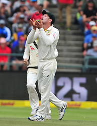 Cape Town-180324 Australian Cameron Bancroft cought Hashim Amla ,who walked out with 31 runs   in the secong Innings of the 3rd sunfoil cricket test at Newlands cricket stadium..Photograph:Phando Jikelo/African News Agency/ANA
