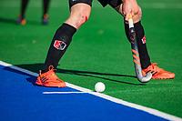 ALMERE -aangeven strafcorner door Billy Bakker (Adam) , adidas,  tijdens de hoofdklasse hockeywedstrijd heren,  Almere- Amsterdam (1-3).    COPYRIGHT KOEN SUYK