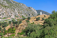 Ruin of a mosque in the mountains of Chefchaouen, Morocco.