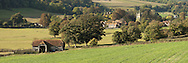 Panoramic view of Hambledon Village in the Thames Valley near Henley, Oxfordshire, Uk