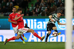 February 3, 2019 - Lisbon, Portugal - Sporting's defender Jefferson from Brazil (R ) vies with Benfica's Portuguese defender Ruben Dias during the Portuguese League football match Sporting CP vs SL Benfica at Alvalade stadium in Lisbon, Portugal on February 3, 2019. (Credit Image: © Pedro Fiuza/NurPhoto via ZUMA Press)