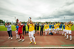 Players of Bravo celebrate during football match between NK Domzale and NK Aluminij in 36th Round of Prva liga Telekom Slovenije 2020/21, on May 22, 2021 in Sportni park Domzale, Slovenia. Photo by Vid Ponikvar / Sportida