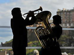 Jazz musicians Cameron Jay and Danielle Price at the launch of the 2016 Edinburgh Jazz & Blues Festival.<br /> <br /> © Dave Johnston/ EEm