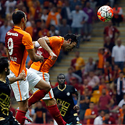 Galatasaray's Selcuk Inan (C) during their Turkish Super League soccer match Galatasaray between Osmanlispor at the AliSamiYen Spor Kompleksi TT Arena at Seyrantepe in Istanbul Turkey on Monday, 24 August 2015. Photo by Aykut AKICI/TURKPIX