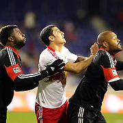 Tim Cahill, (centre), Red Bulls, in action during the New York Red Bulls V D.C. United Major League Soccer, Eastern Conference Semi Final 2nd Leg match at Red Bull Arena, Harrison. New Jersey. USA. 8th November 2012. Photo Tim Clayton