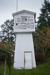 Water Tower at Homestead, Russell Island, Gulf Islands National Park Reserve, British Columbia, Canada