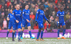 Everton's Wayne Rooney shows his dejection as Stoke City equalise during the Premier League match at the bet365 Stadium, Stoke.