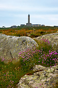 Lighthouse, phare on Ile de Batz, Brittany, France