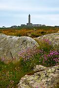 Lighthouse, phare on Ile de Batz, Brittany, France