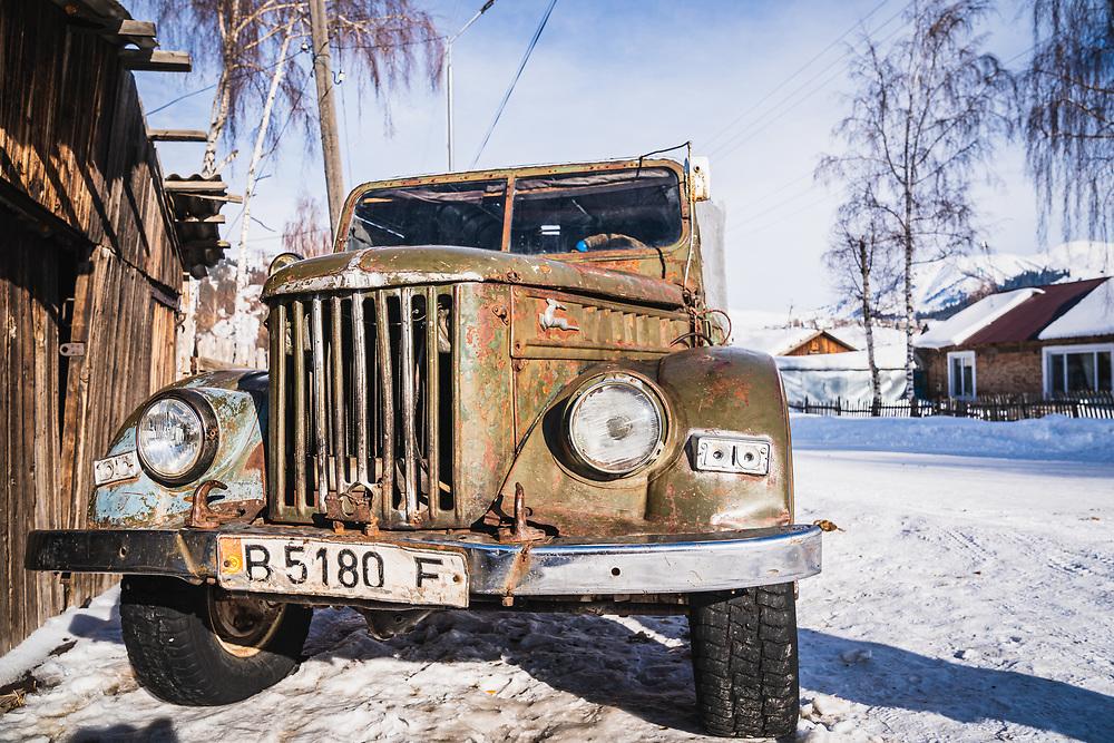 Soviet era truck, Jyrgalan, Kyrgyzstan.