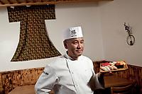 Katsuya Uechi shows off his sushi at Katsu-Ya in Studio City, CA. July 31 2012. Photo by David Sprague