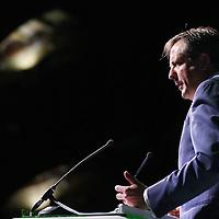 Nederland, Amsterdam , 8 februari 2014.<br /> D66 congres in Beurs van Berlage.<br /> Aan het woord is D66 leider Alexander Pechtold.
